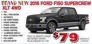 New 2016 Ford F150 Supercrew
